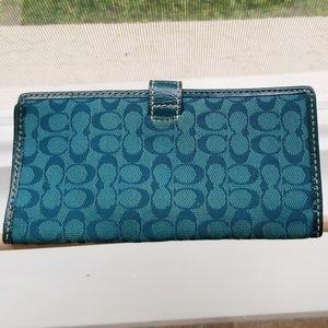 Coach Bags - Coach Slimline Checkbook Wallet